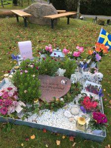 Ronjas grav är så fin efter hennes födelsedag ?
